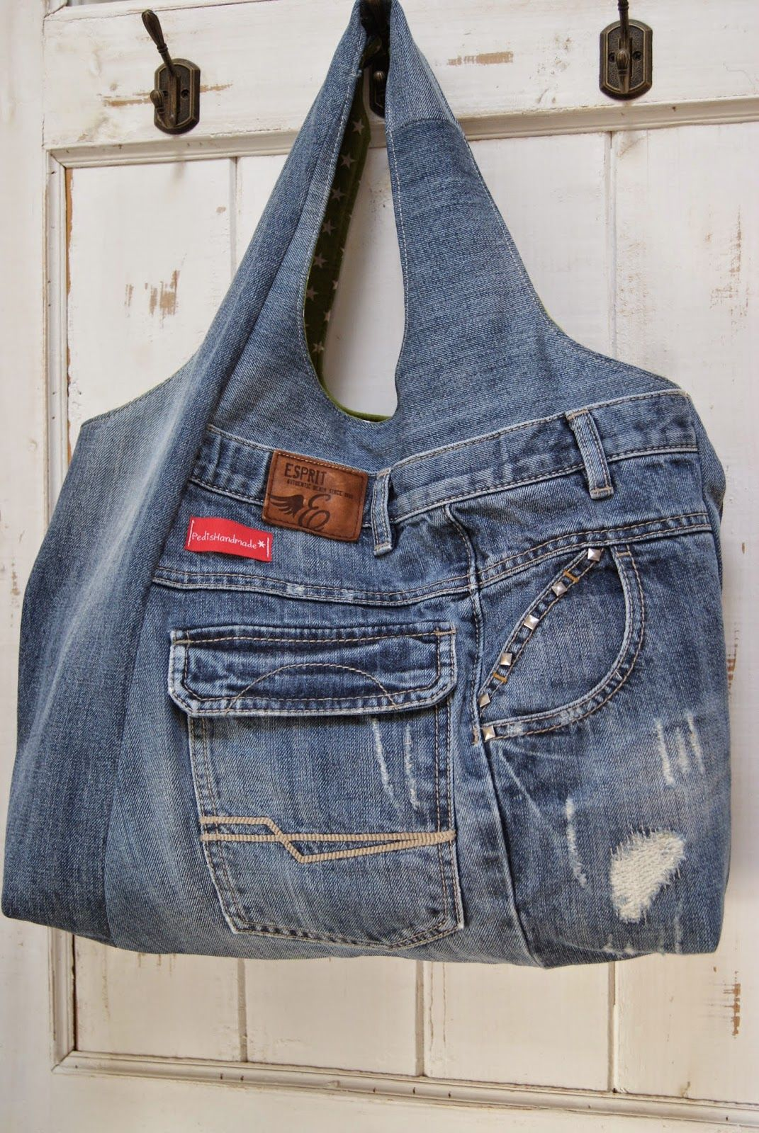 tasche aus alter jeans bag made from old pair of jeans upcycling old jeans pinterest. Black Bedroom Furniture Sets. Home Design Ideas