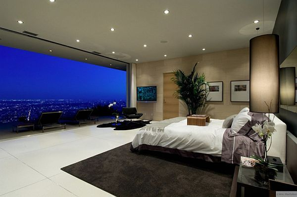 astonishing red white modern bedroom | 21 Amazing Bedroom Views That Will Rock Your Mornings ...