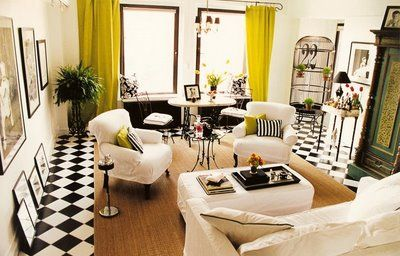 White Curtains black and white curtains for living room : 17 Best images about yellow and black on Pinterest | David smith ...