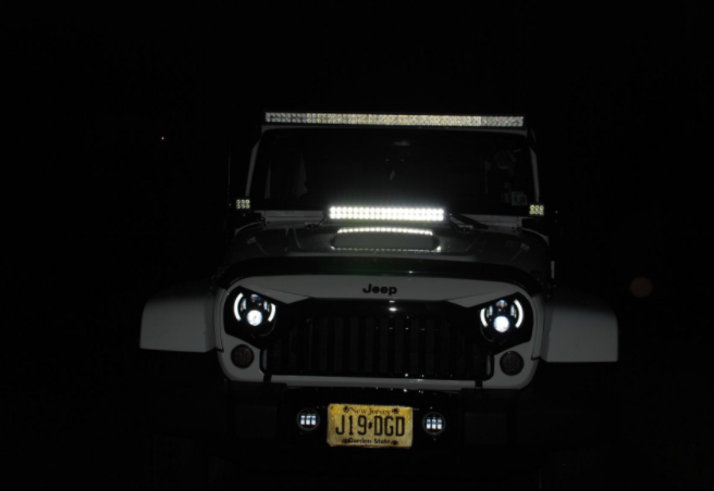 I Bought The 21 5 Light Bar Installed It On The Hood Of My Jk