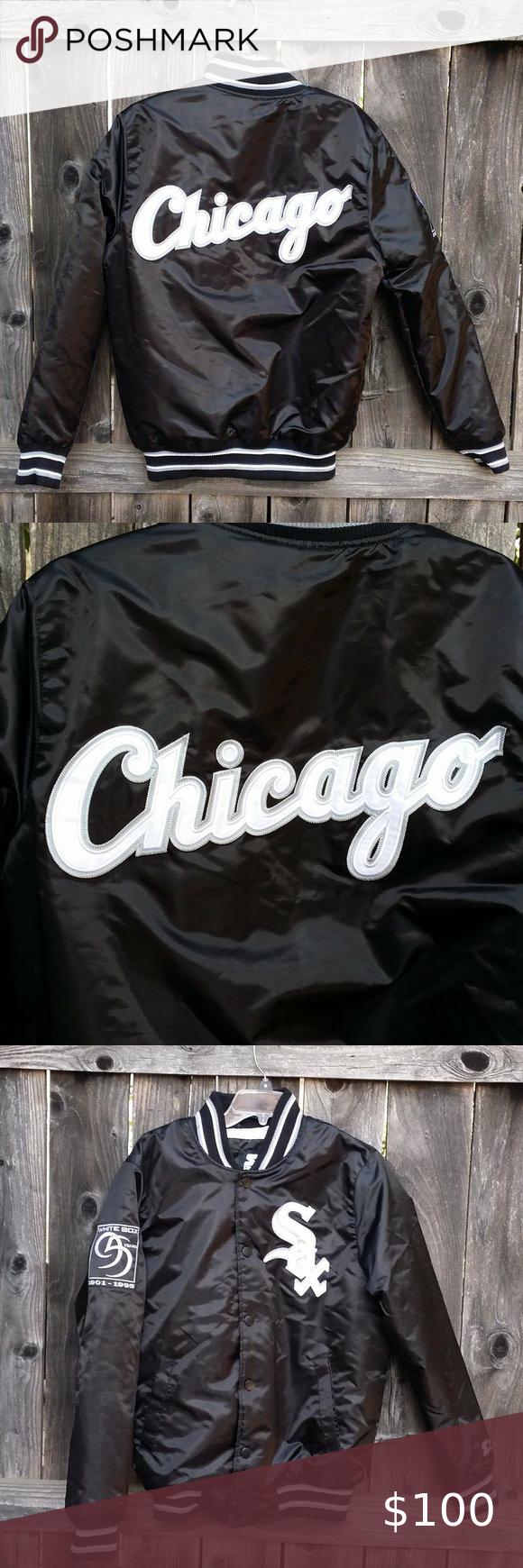 Chicago White Sox Starter Baseball Bomber Jacket Baseball Bomber Jacket Nike Air Max Plus Jackets [ 1740 x 580 Pixel ]
