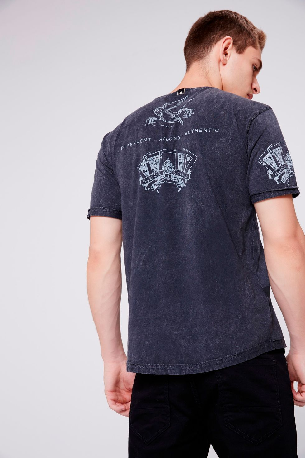 9253ac0d0 Camiseta Tingida Masculina - Damyller-smartphone
