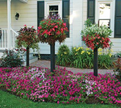 Trio Of Border Column Kits Basket Planters Diy Garden