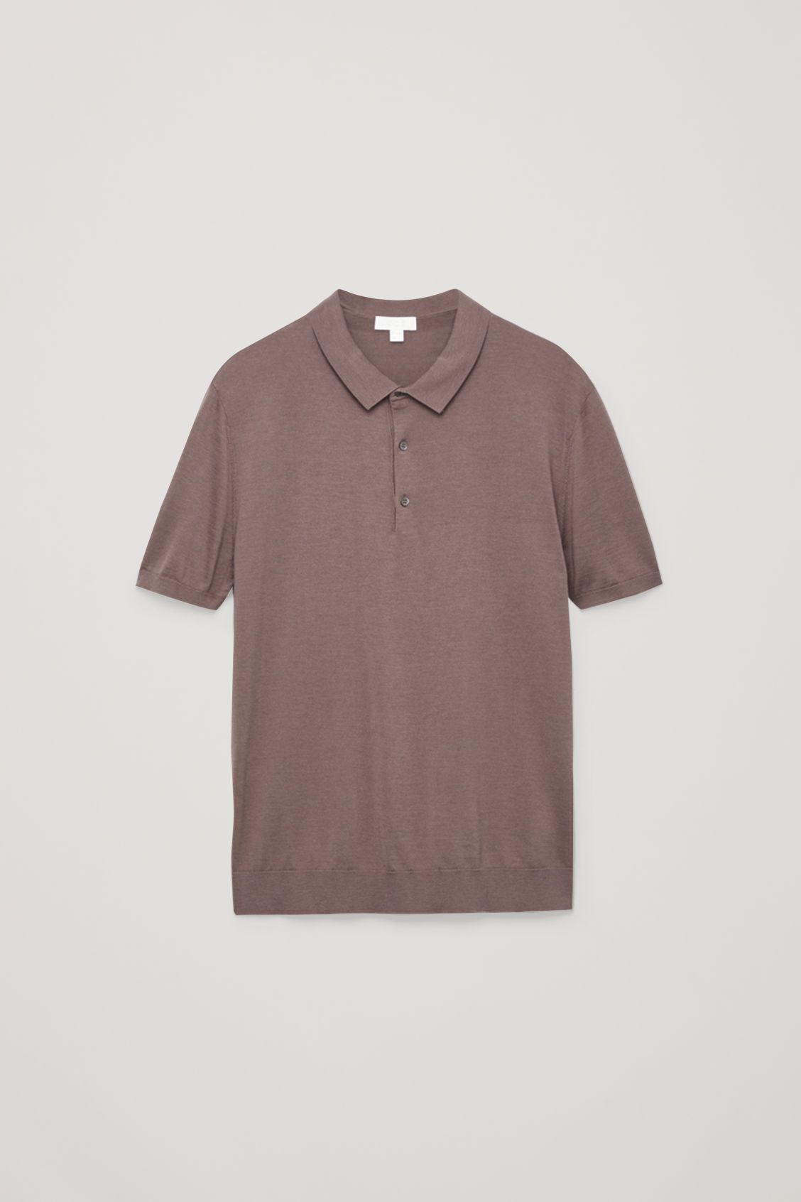 SILK COTTON POLO SHIRT Chalk lilac Polo shirts COS
