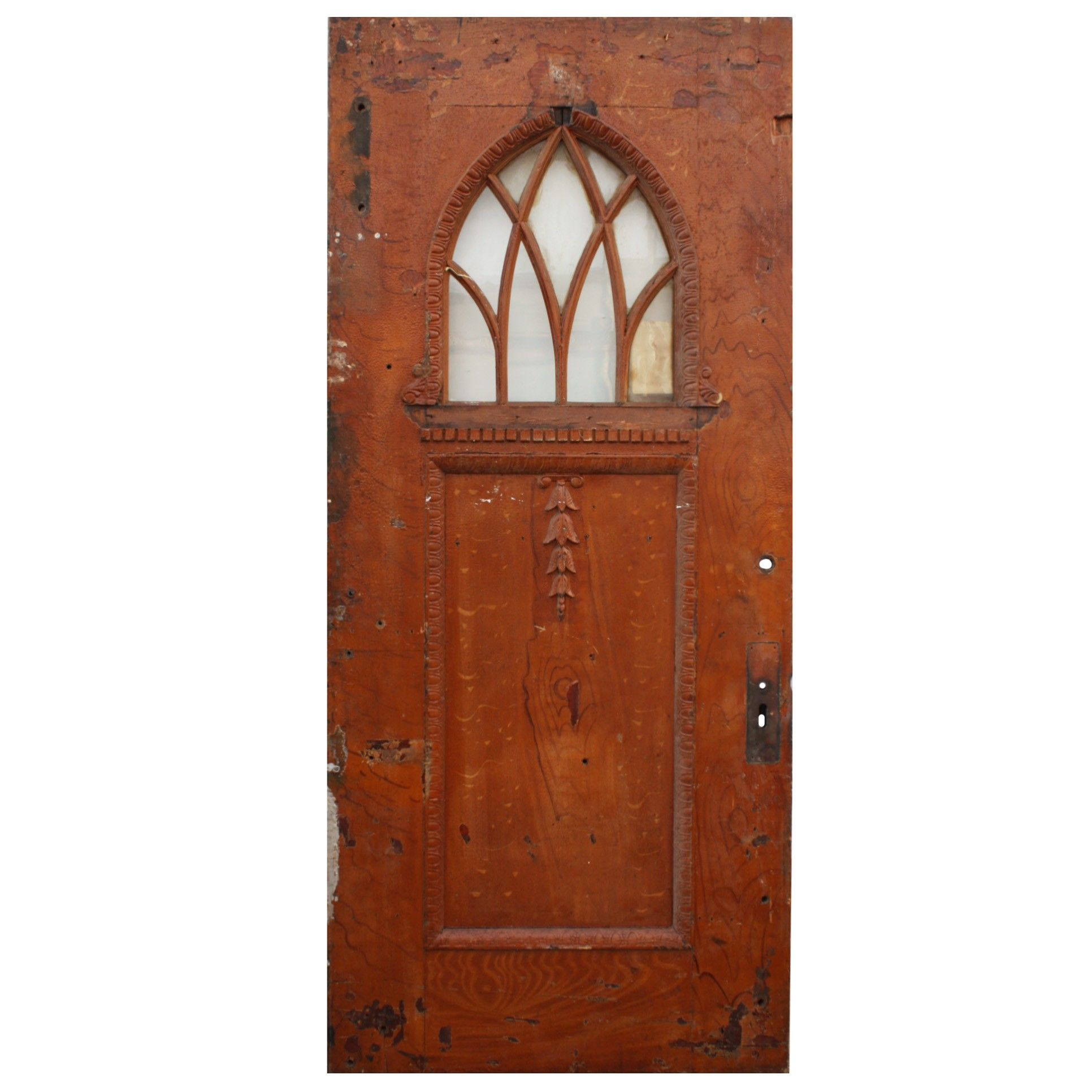 """Salvaged 39"""" Door with Gothic Arch Window   NC Exteriors ..."""