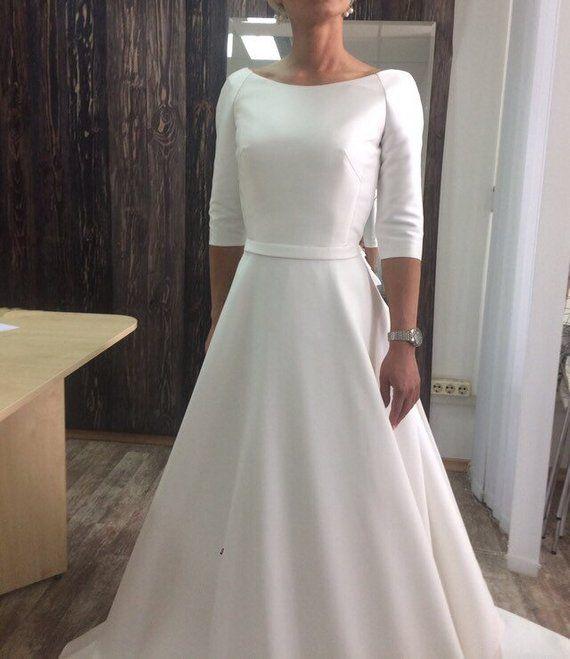 Megan Wedding Dress: Megan Wedding Dress Boho Elegant Modern Minimalism Long