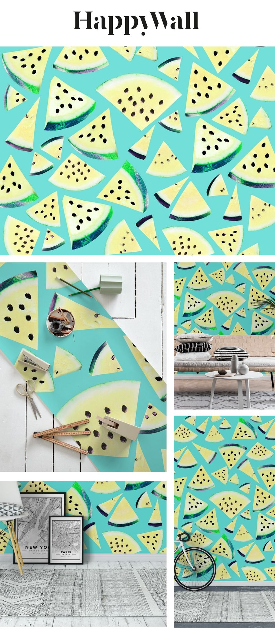 Watermelon Twist Vibes 4 wall mural from Happywall