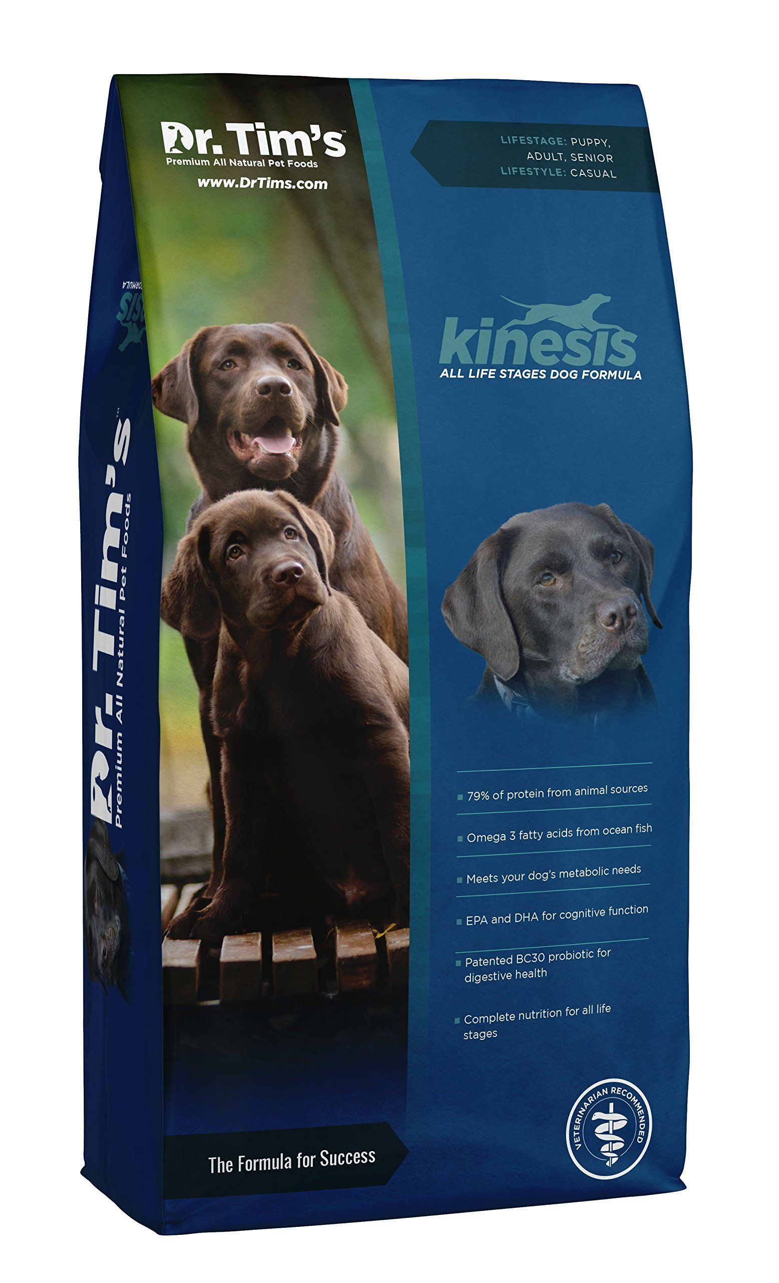 Dr Tims Kinesis All Life Stages Dog Food Formula 40 Lb Bag Be