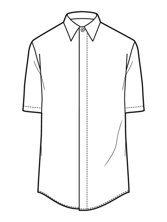 Line Drawing Shirt : Images about shirt flat sketch on pinterest