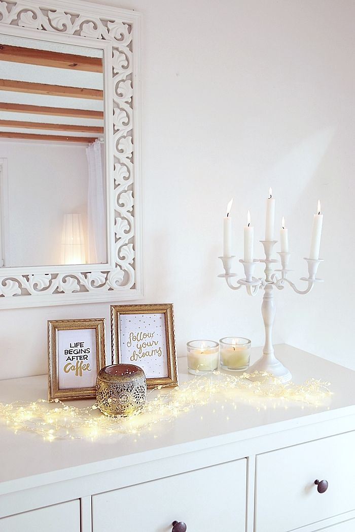 Trendige Deko In Gold Weiss Gold Wohnzimmer Kommoden