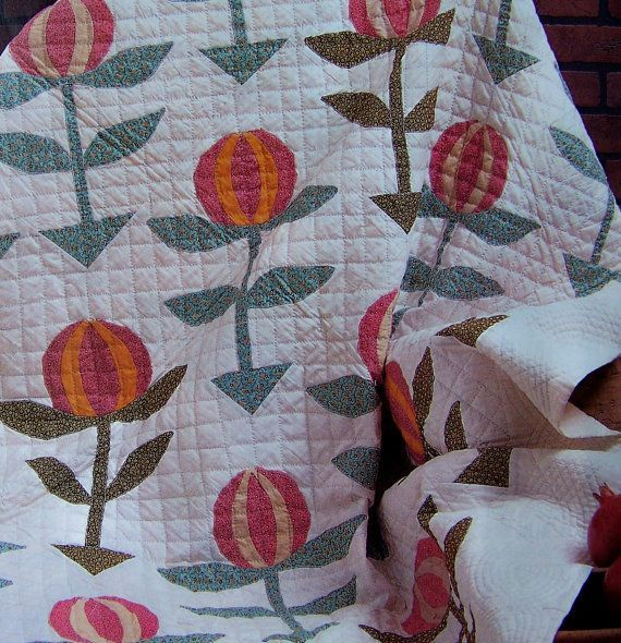 Country Style Love Apple Quilt Pattern | Applique | Pinterest ... : country style quilt patterns - Adamdwight.com