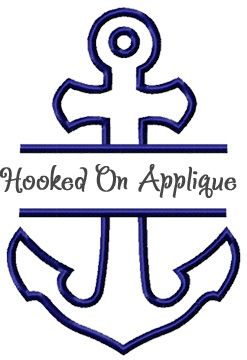 Split anchor applique from Hooked On Applique! (With