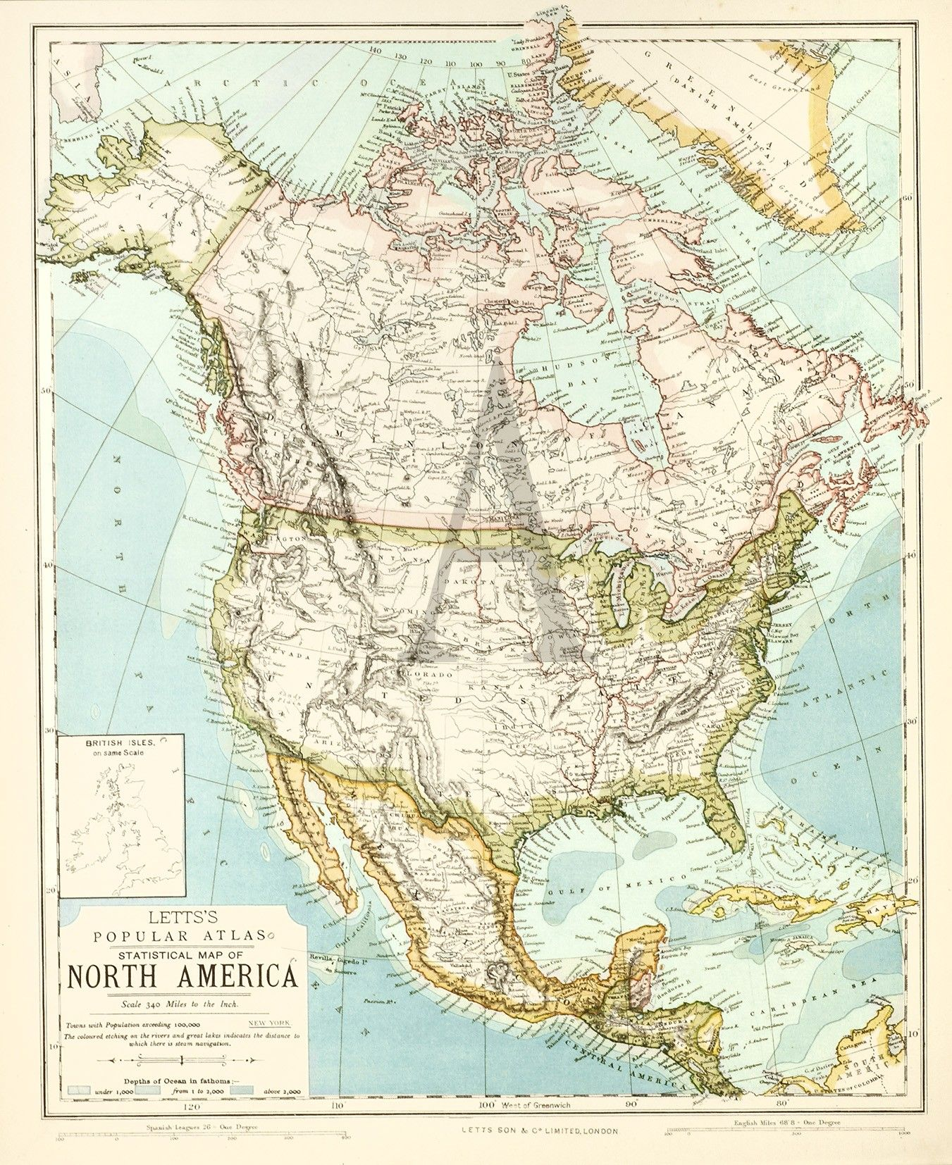 Statistical Map of North America   Maps of United States & North ...