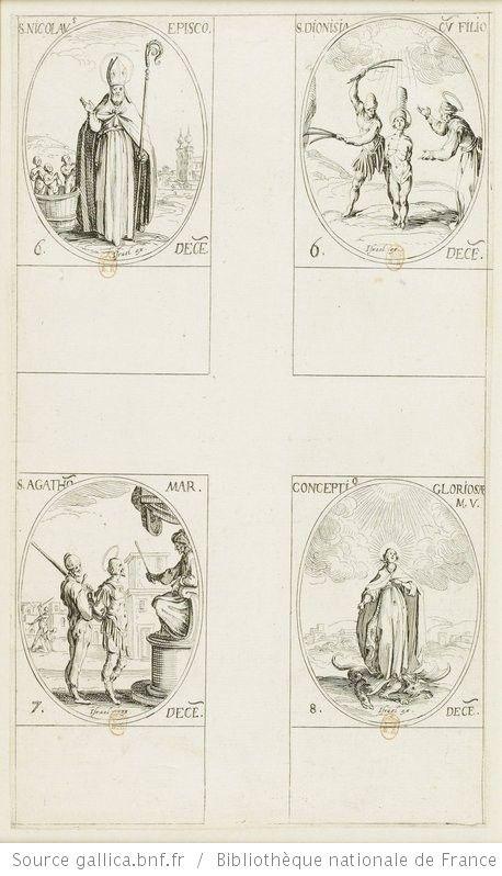 [Les images des saints]. [441-444], [Les images des saints. Cent-onzième planche] : [décembre] : [estampe] / [Jacques Callot] - 1