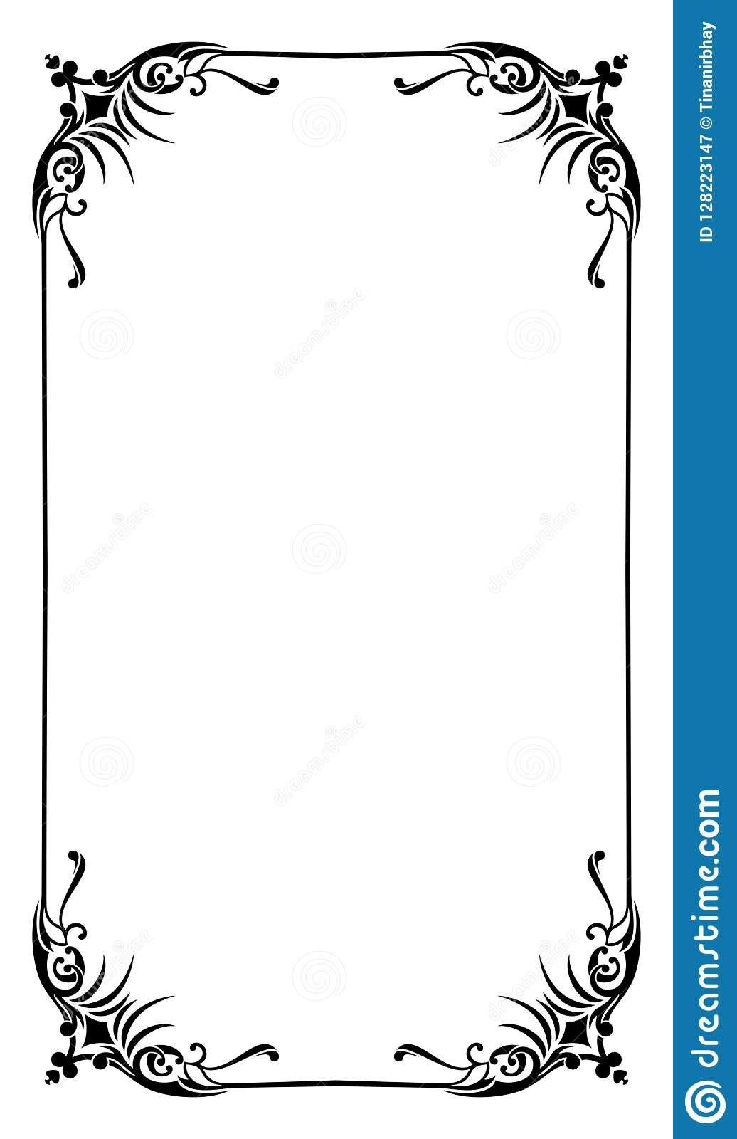 The Excellent Restaurant Menu Card Frame Template Stock Vector In Blank Restaurant Menu Template Pics Below Is Other Parts Of