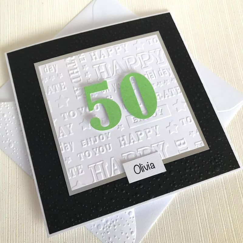 Personalised 50th Birthday Card Handmade Birthday Card By Looks Inviting With Free Uk Delivery 100th Birthday Card 90th Birthday Cards 21st Birthday Cards