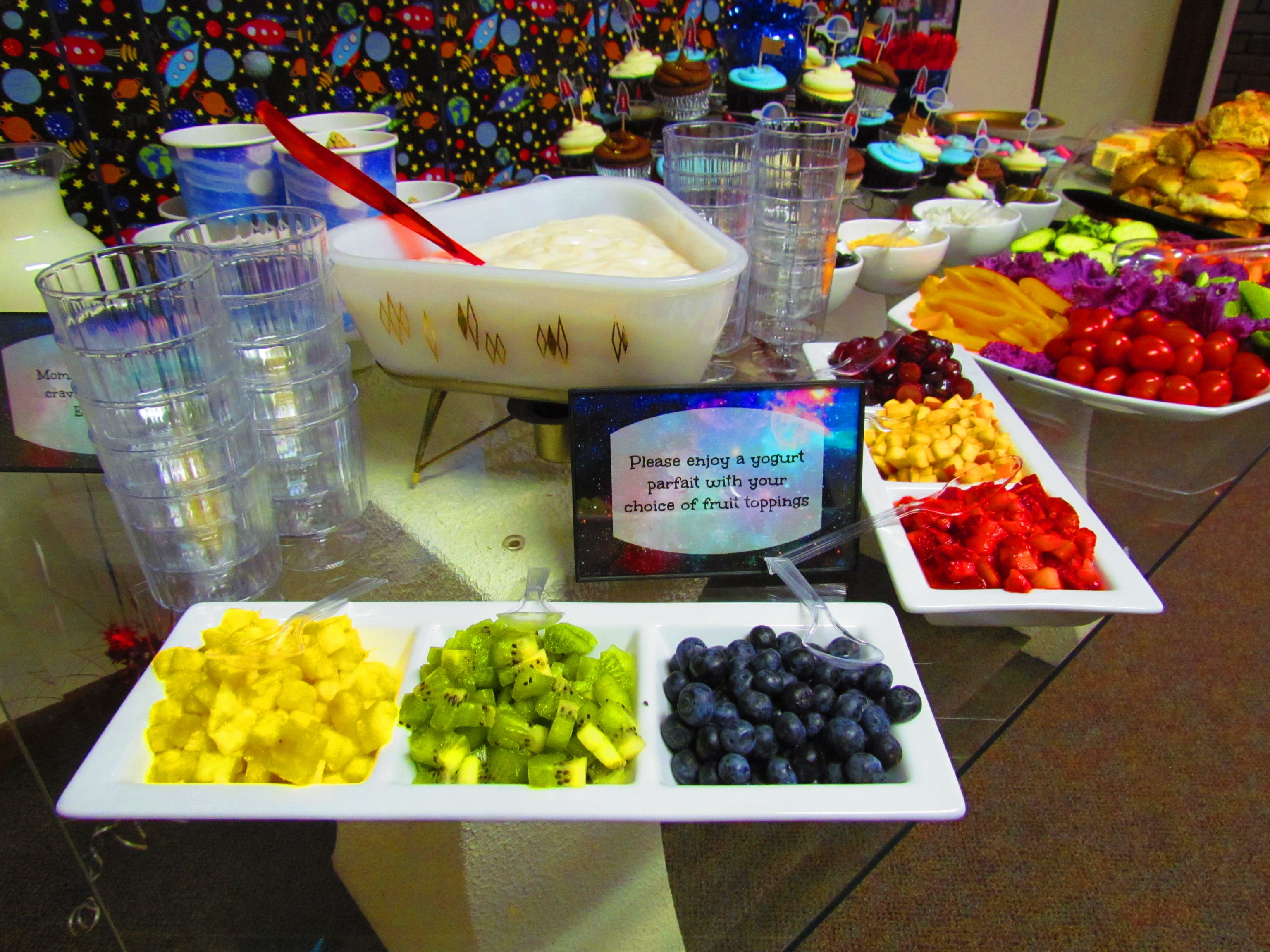 Outer Space Baby Shower Food