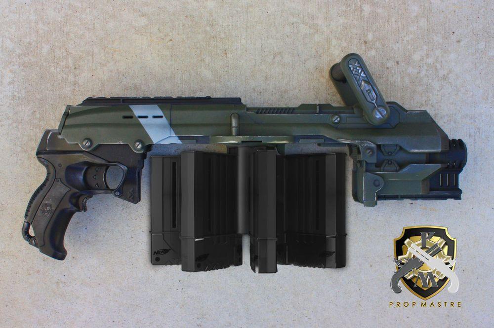 Hailfire Gun Rifle Custom Modded Cosplay Comic Con Steampunk Nerf LARP Halo  | eBay