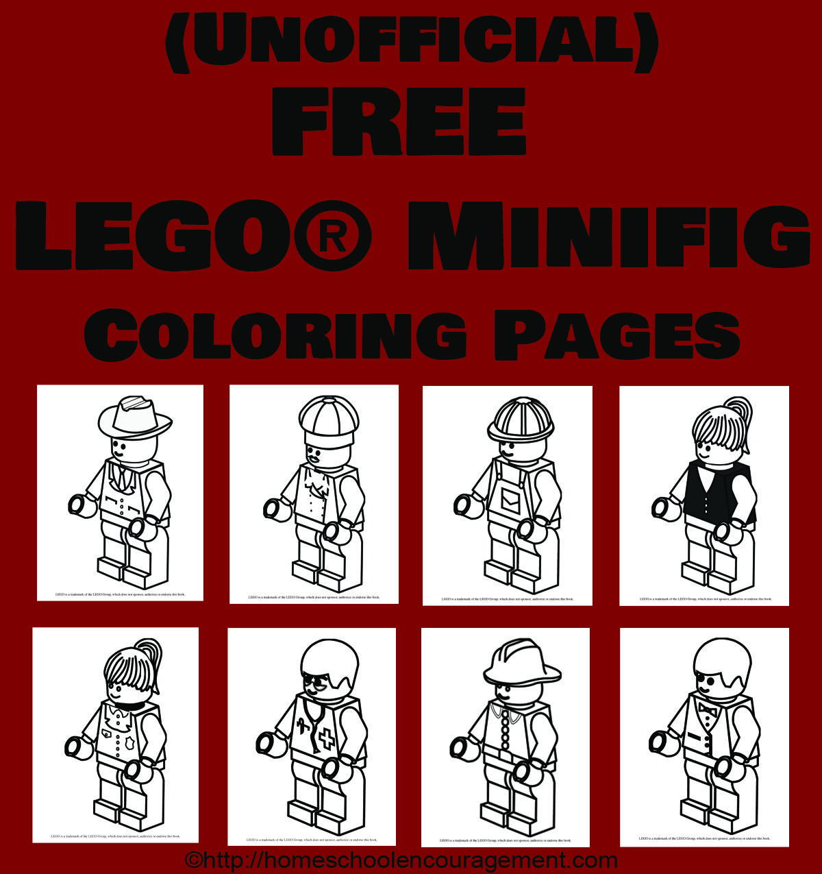 8 Free #LEGO Minifig Coloring Pages from #Homeschool Encouragement ...