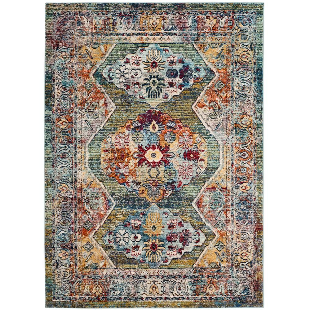 Safavieh Savannah Green Gray 5 Ft 1 In X 7 Ft 6 In Area Rug Svh649m 5 Area Rugs Colorful Rugs Savannah Chat