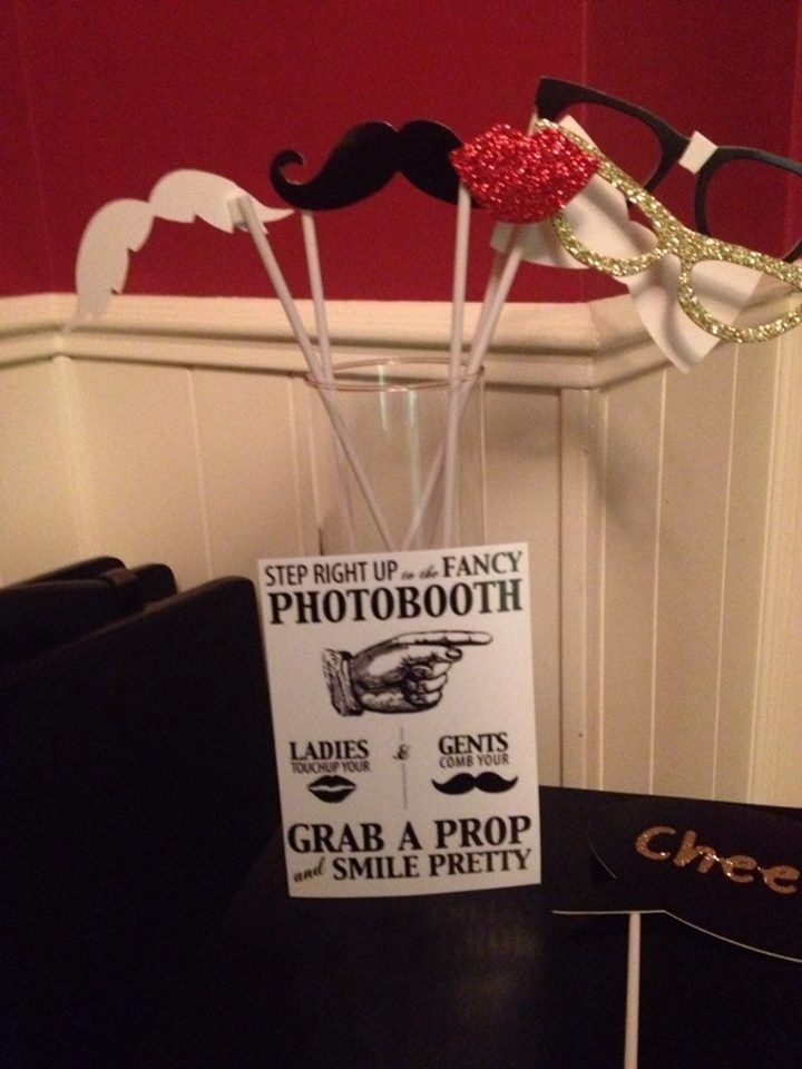 My Roaring 20s Party Photo Booth Props My Dirty Thirty Party