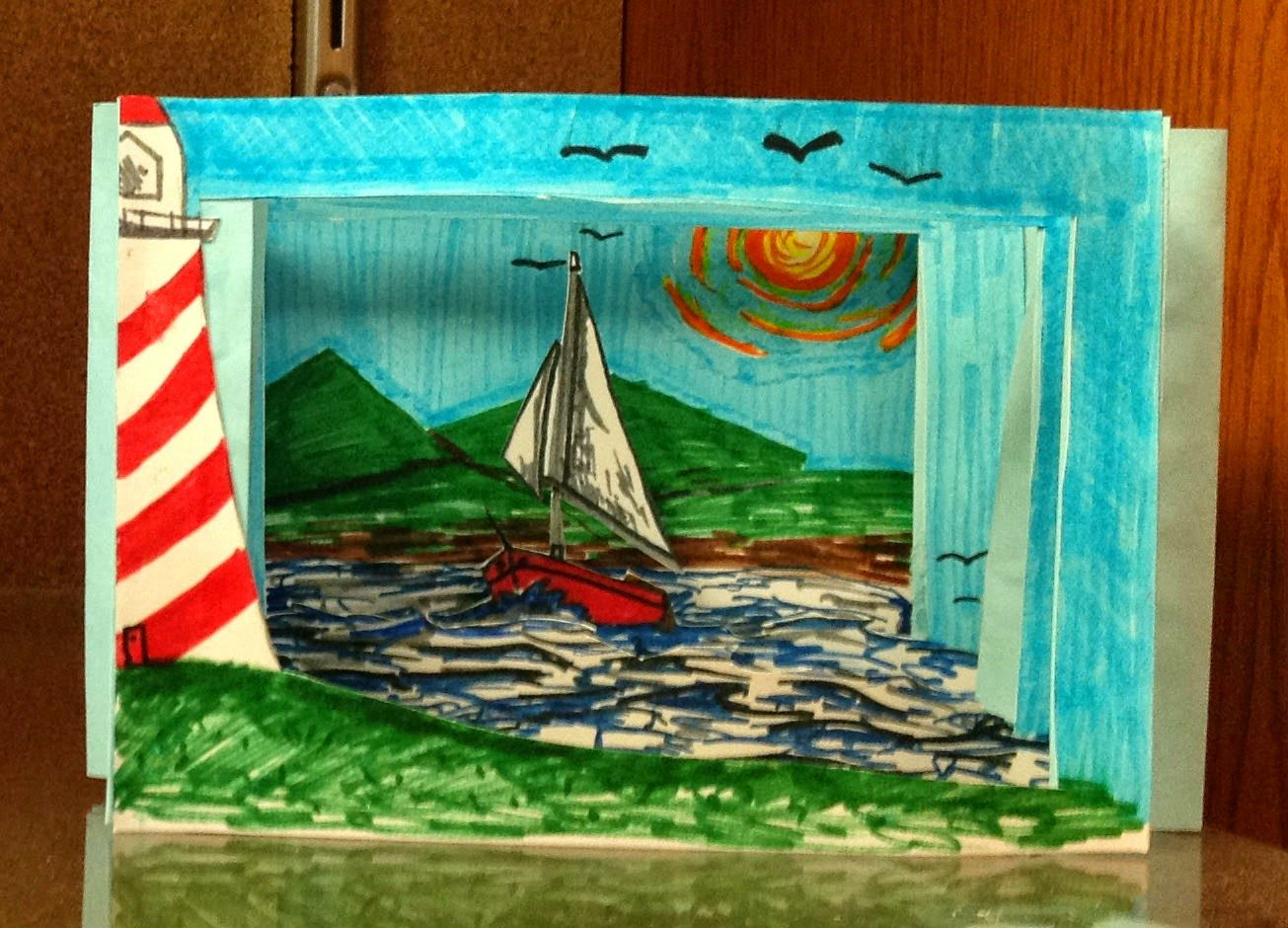 8th Grade Middle School Tunnel Book Art Lesson Book Art Projects Elementary Art 7th Grade Art