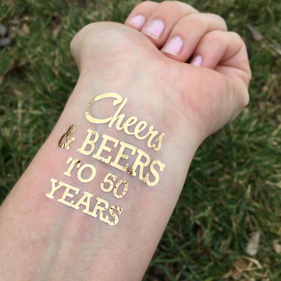 Cheers And Beers To 50 Years, 50th Birthday Favors