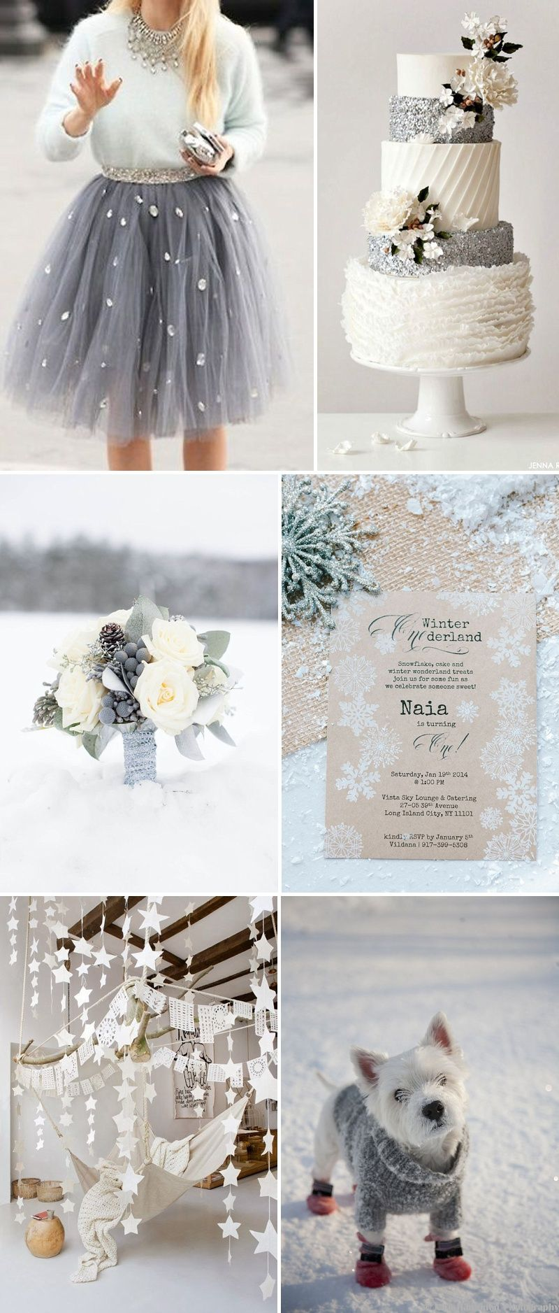 The 287 best Winter Wedding - silver, white & ice blue images on ...