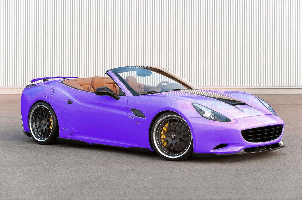 Purple Ferrari California. My Kinda Car(;