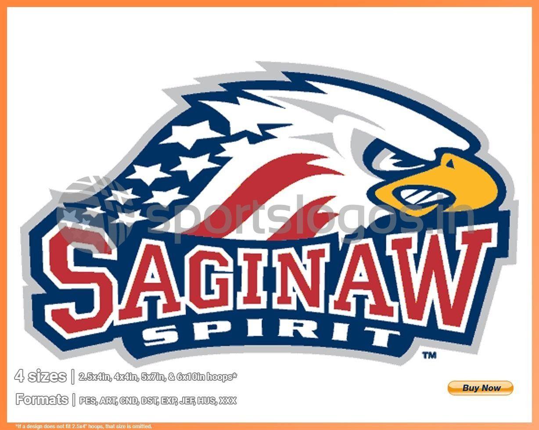 Saginaw Spirit Hockey Sports Embroidery Logo In 4 Sizes Spln003733 In 2020 Sport Hockey Saginaw