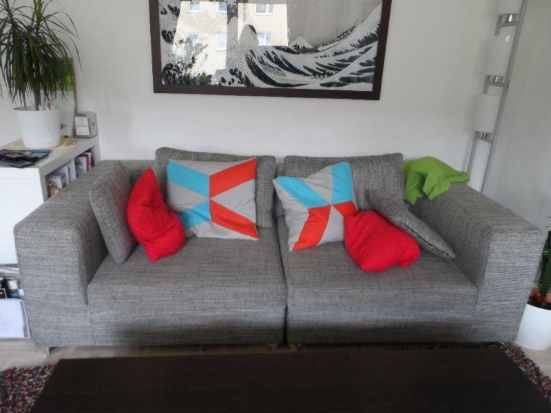 3er Sofa Kare 220x108x65 Inklusive 6 Kissen 2xgrau Gross 2x Grau Klein 2x Grau Rot Blau Mittelgross Das Sofa Ist Leicht Zu Transportie 3er Sofa Sofa Kissen