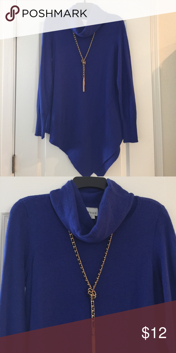Royal blue cowl neck sweater NWT | Cowl neck, Royal blue and Stylus