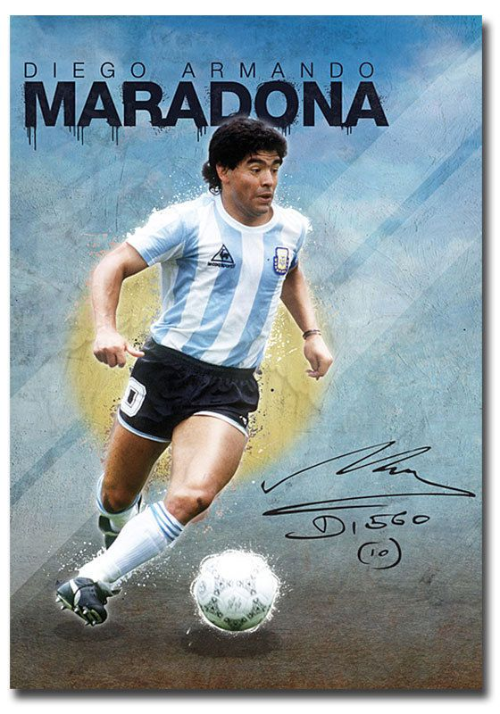 a2fc1a121e5fd  4.5 - Diego Maradona Legend Football World Cup Poster Fridge Magnet Size  2.5