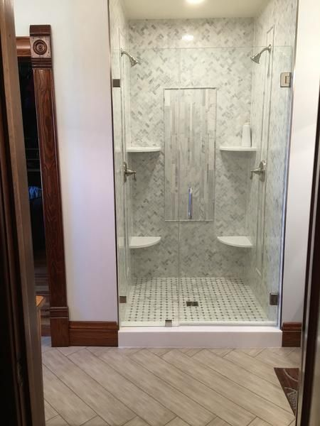 Instagram Photo By Marble Mosaics N More May 27 2016 At 3 00am Utc Shower Doors Frameless Shower Doors Kohler Frameless Shower Door