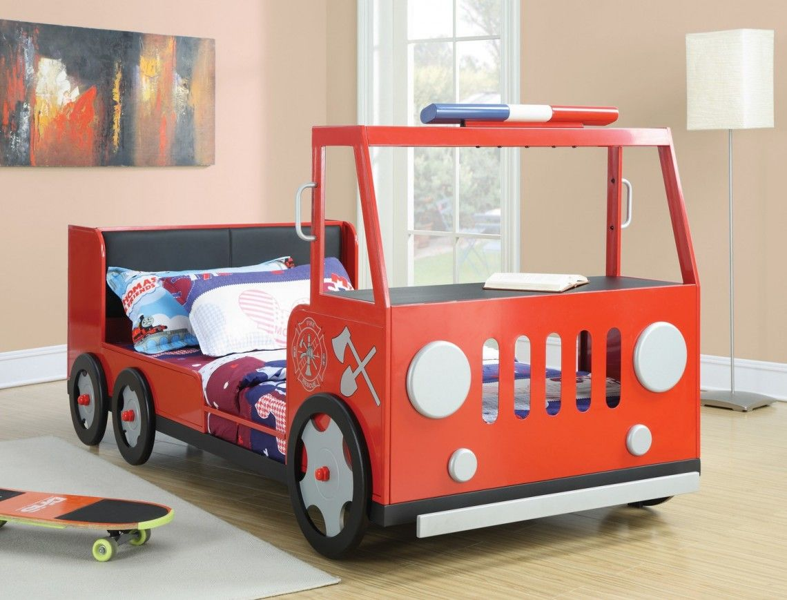 Beautiful, Cute and Playful Fire Truck Bed for Boys with
