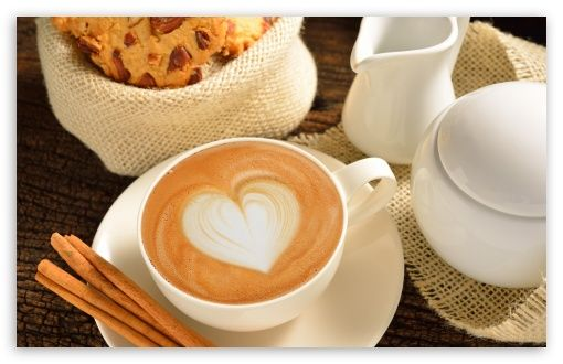 Heart On Coffee Foam Cinnamon