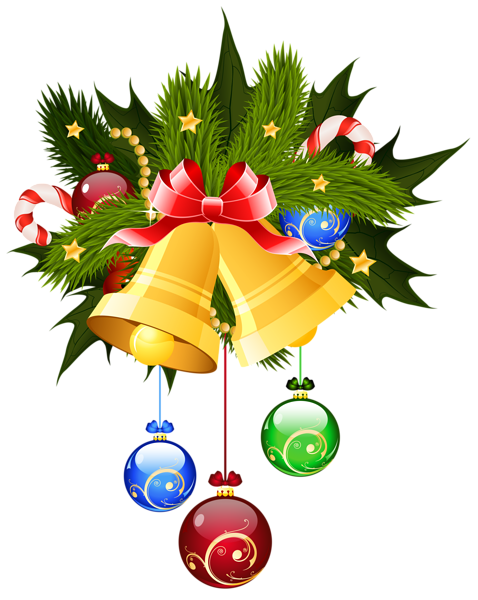 christmas bells and ornaments transparent png clip art image rh pinterest com christmas bells clip art images christmas bells clip art
