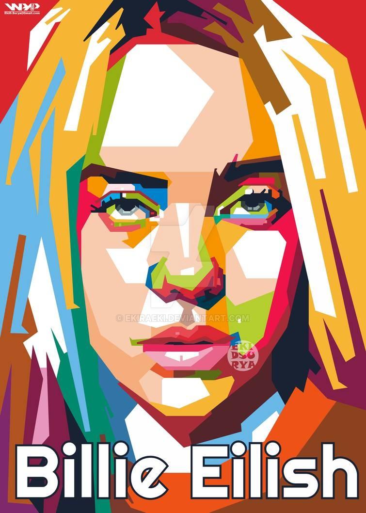 Wpap Billie Eilish By Ekiraeki On Deviantart Wpap Art Pop Art Posters Billie Eilish