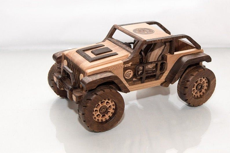 frostyycrafts wooden toy car jeep trailcat in 2020 toy car wooden car wooden toys pinterest