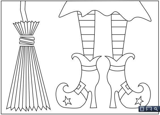 Image Result For Witch Shoes Coloring Pages Free Halloween