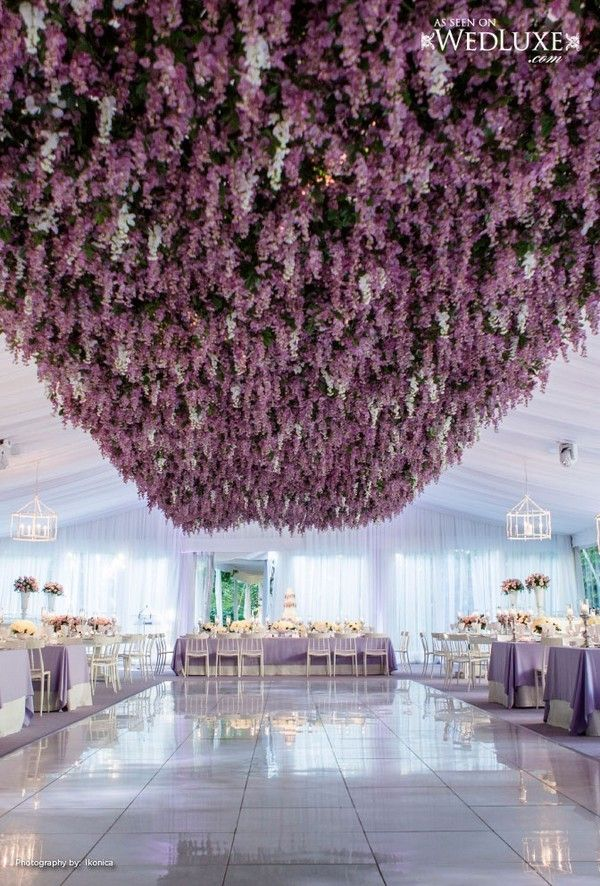 Trending 12 Fairytale Wedding Flower Ceiling Ideas For Your Big Day Oh Best Day Ever Flower Ceiling Wedding Decorations Wisteria Wedding