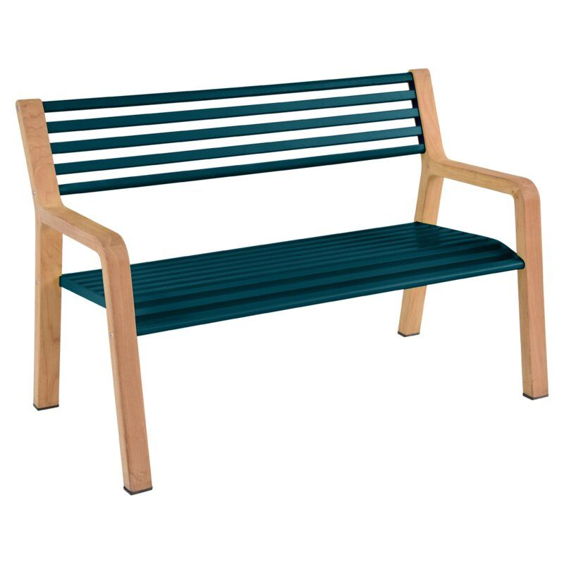 Somerset Teak Park Bench Gartenbank Metall Teak Holz Teak