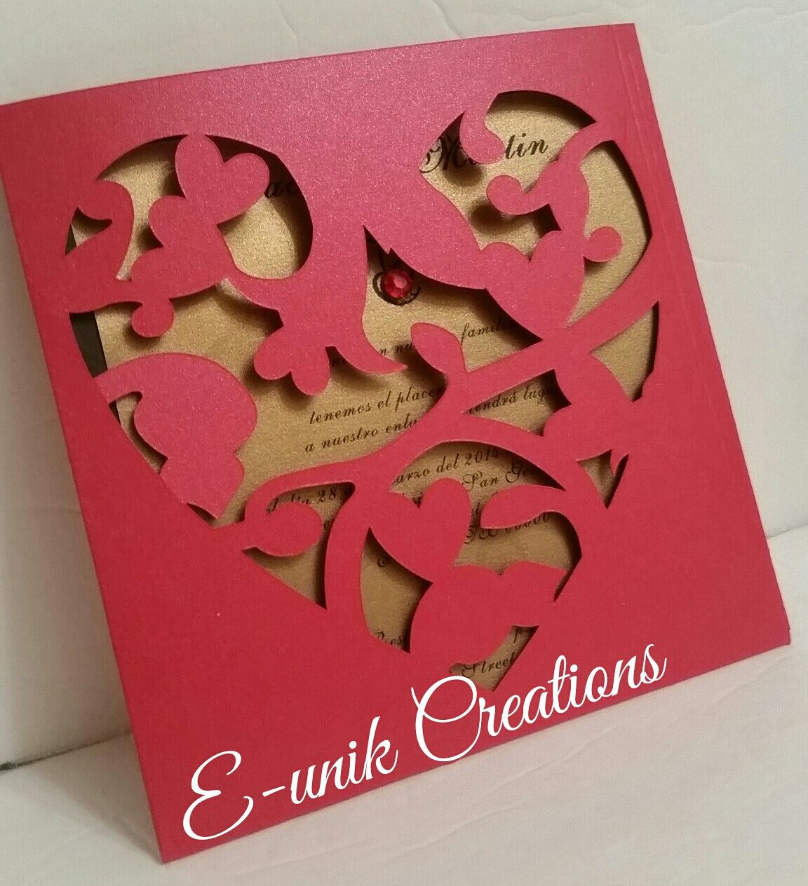 Wedding Invitation-Modern Wedding Invitation-Laser Cut Invitation ...