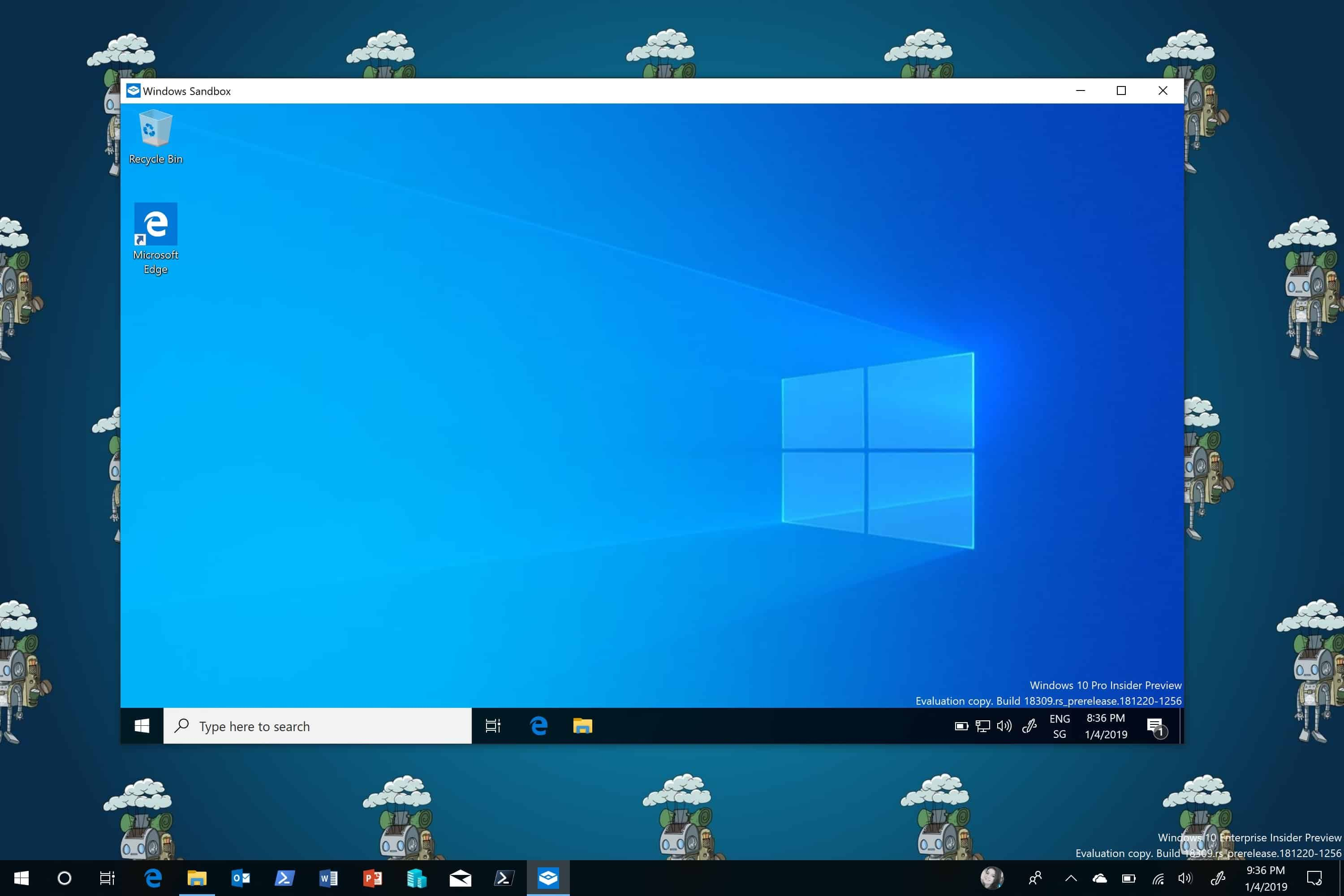 With The Latest Release Of Windows 10 1903 Microsoft Introduced A New Feature Called Windows Sandbox Window Windows 10 Desktop Environment Windows Defender