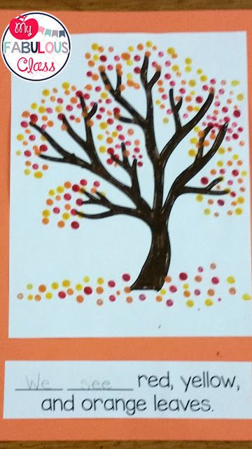 Free Template For Fall Tree With Q Tip Painting Great Craft Fall