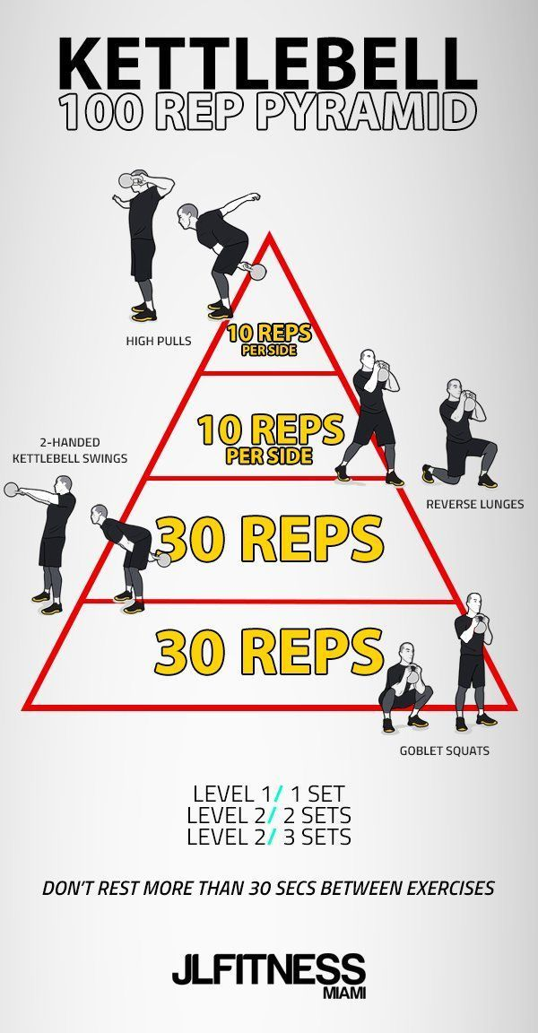 Kettlebell- 100 Rep Pyramid - #exercice #faciles #fit #fitness #fitnessejercicios #Fitnessmotivation...