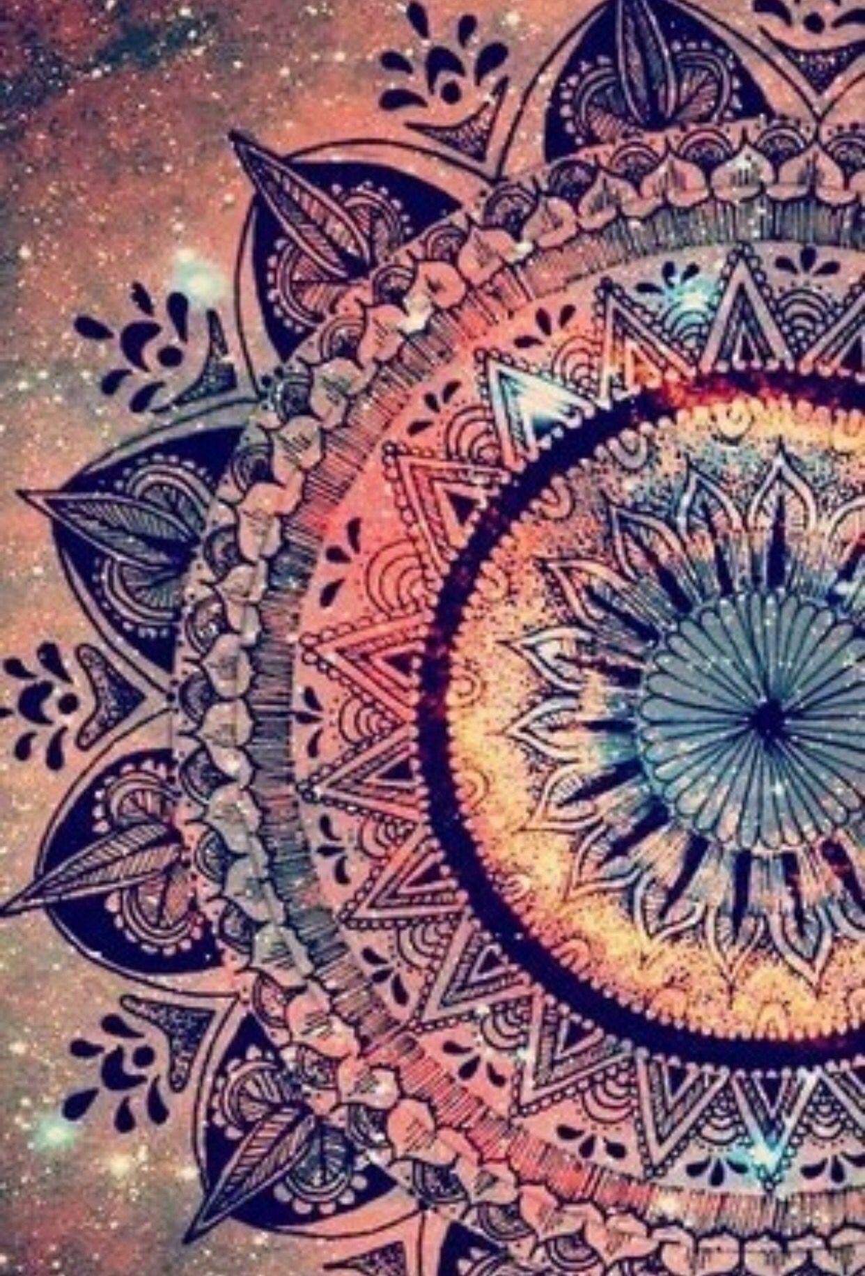 Boho background | Yoga and inner peace | Art, Mandala, Iphone wallpaper