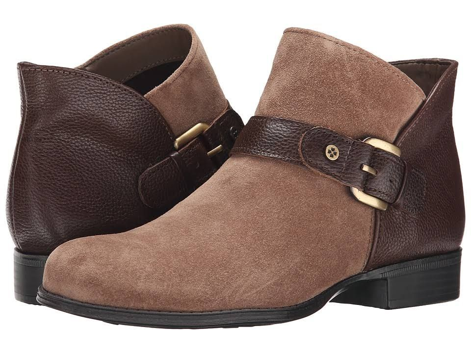 Womens Boots Naturalizer Jarrett Truffle Taupe Suede/Brown Leather