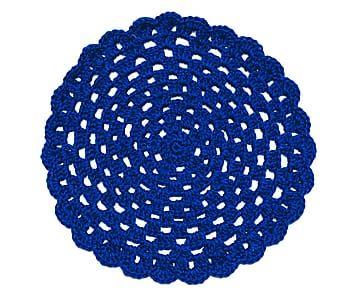Jogo Americano Round Azul - 32cm