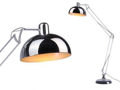 Die praktisch höhenverstellbare Stehlampe Giant gibt es in Silber - stehlampe f r wohnzimmer